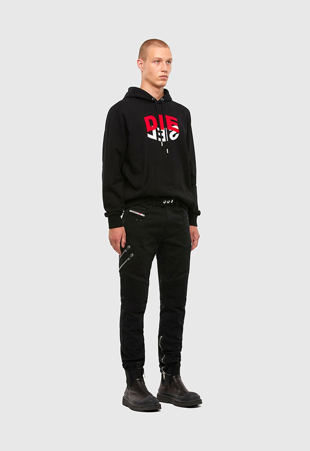 S-GIRK-HOOD-N1, Black - Sweaters