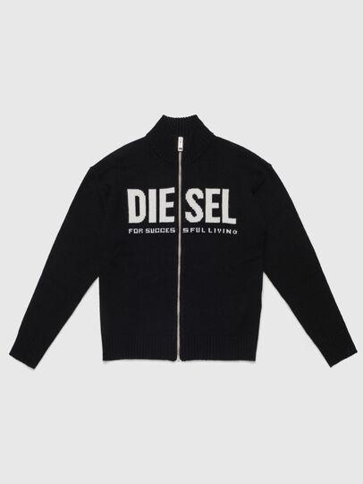 Diesel - KLOGOXZIP, Black - Knitwear - Image 1