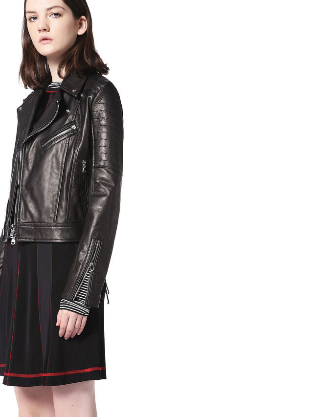 Diesel - LINEW, Black - Leather jackets - Image 6