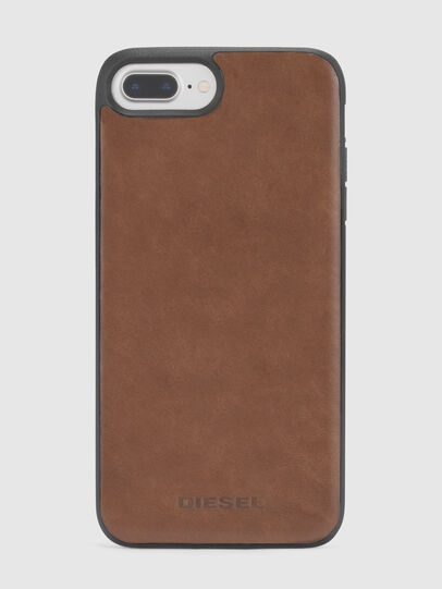 Diesel - BROWN LEATHER IPHONE 8 PLUS/7 PLUS/6s PLUS/6 PLUS CASE,  - Cases - Image 3