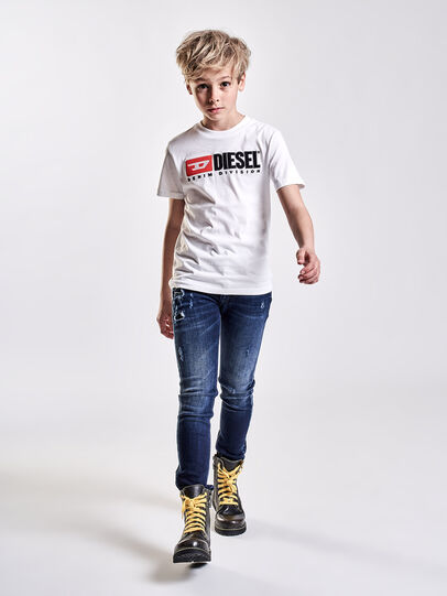 Diesel - TJUSTDIVISION, White - T-shirts and Tops - Image 3