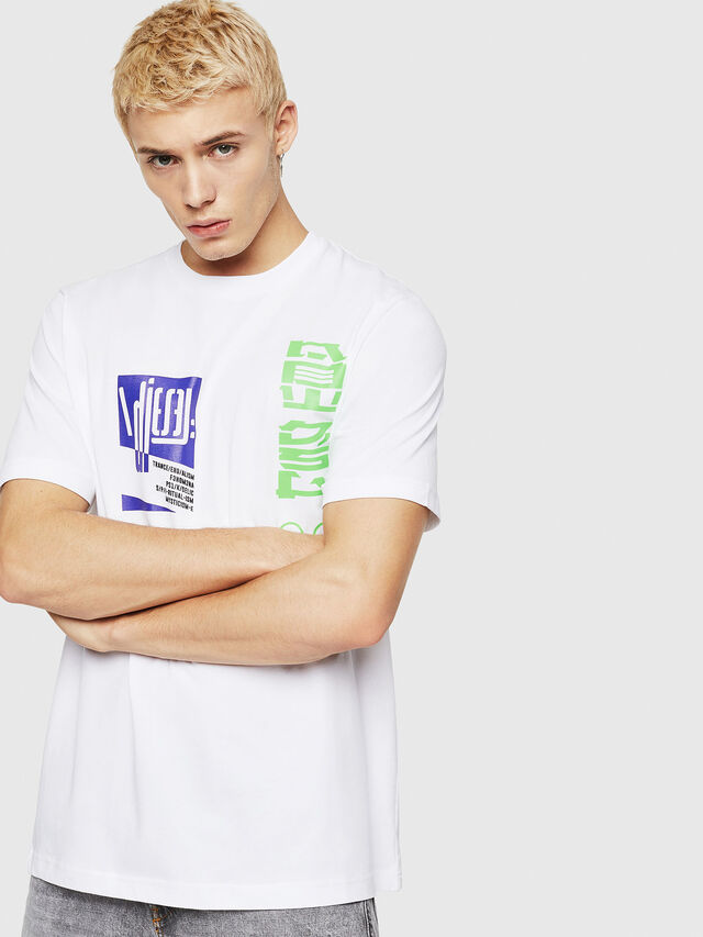 Diesel - T-JUST-Y20, White - T-Shirts - Image 1