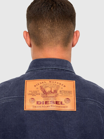 Diesel - D-VERSO, Dark Blue - Denim Shirts - Image 4