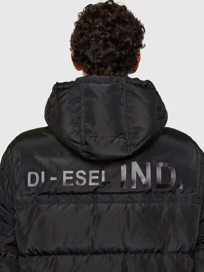 Diesel - W-RUSSELL-LONG, Black - Winter Jackets - Image 4
