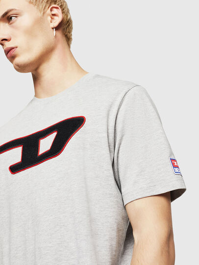 Diesel - T-JUST-DIVISION-D, Grey - T-Shirts - Image 4