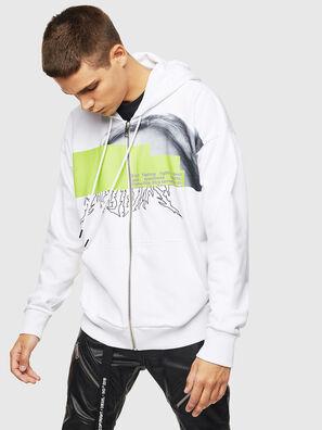 S-ALBY-ZIP-B1, White - Sweaters
