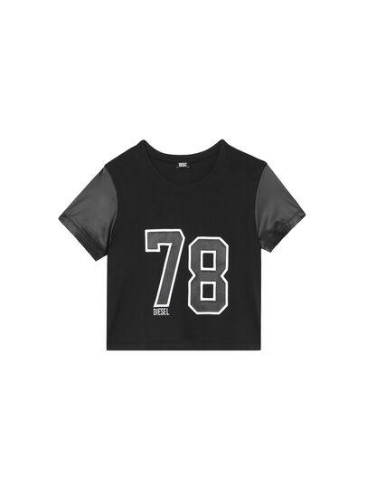Diesel - UFTEE-ROUNDIE-SAT, Black - T-Shirts - Image 1