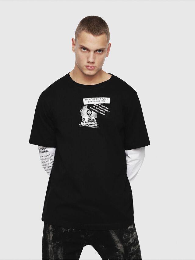 Diesel - T-SHOOT-YA, Black - T-Shirts - Image 1