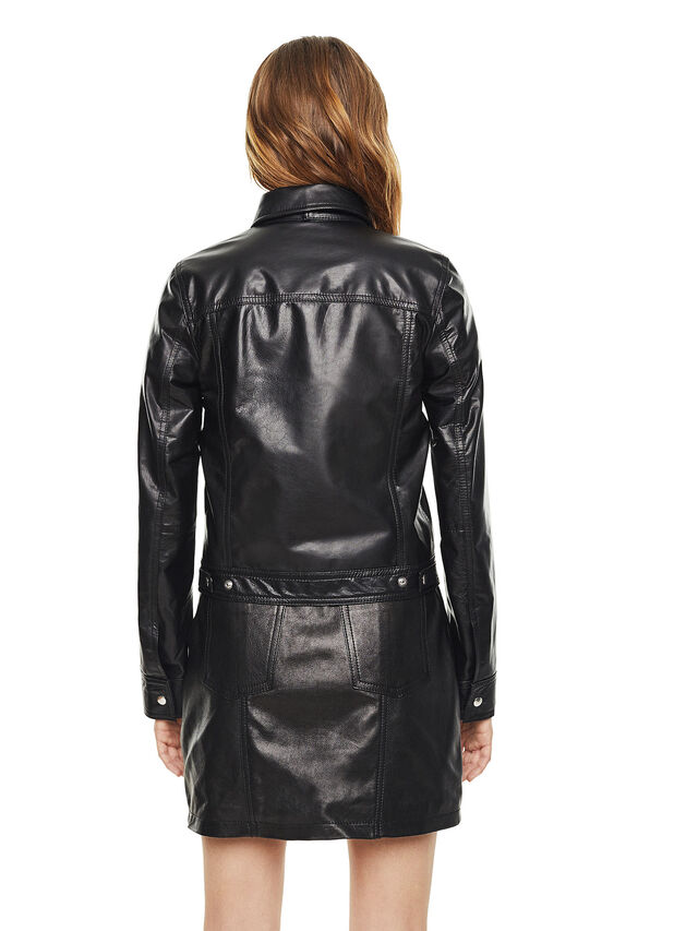Diesel - LUCYLLE, Black Leather - Leather jackets - Image 2