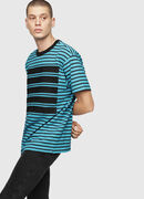 T-WALLACE-STRIPE, Turquoise - T-Shirts