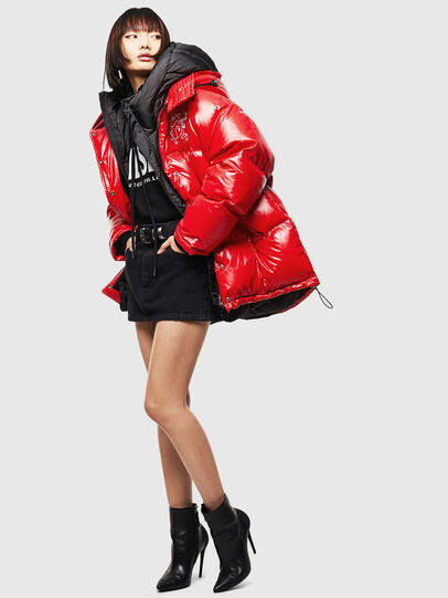 Diesel - CL-W-ALLA-LITM, Red - Winter Jackets - Image 8