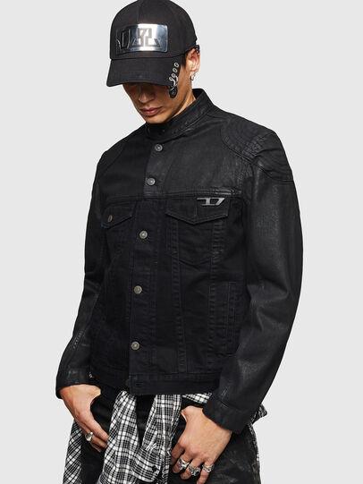 Diesel - D-DANY, Black/Dark grey - Denim Jackets - Image 1