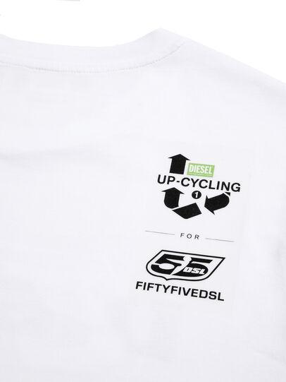 Diesel - D-55LOGO, White - T-Shirts - Image 4