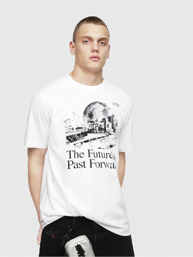 Diesel - T-JUST-YM, White - T-Shirts - Image 1