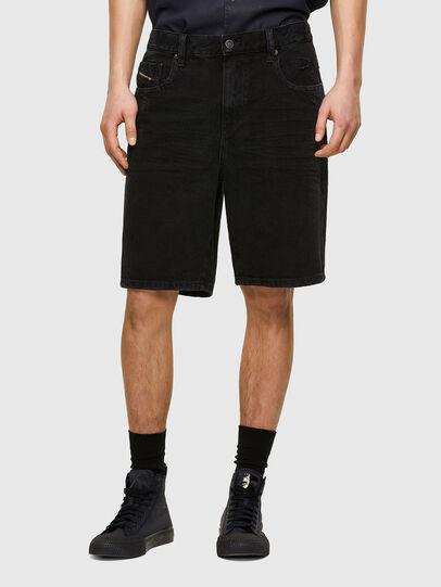 Diesel - D-STRUKT-SHORT, Black/Dark grey - Shorts - Image 1