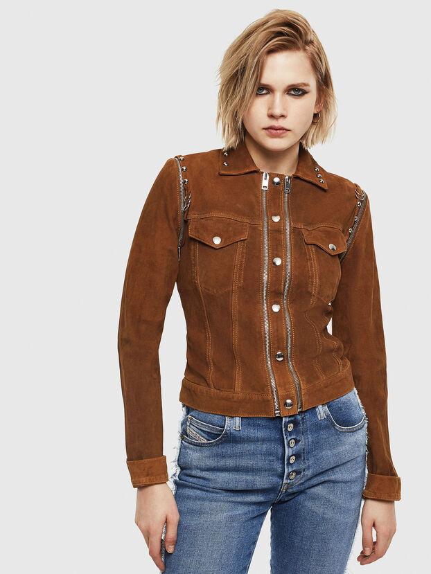 L-TAHALI, Brown - Leather jackets