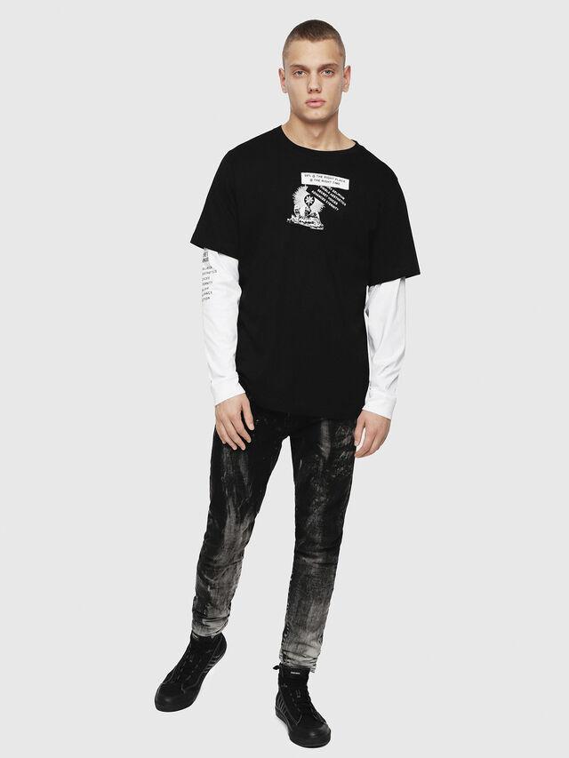 Diesel - T-SHOOT-YA, Black - T-Shirts - Image 4