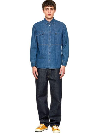 Diesel - D-MILLY-SP, Medium blue - Denim Shirts - Image 4