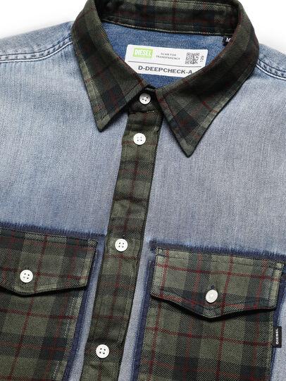 Diesel - D-DEEPCHECK-A, Light Blue - Denim Shirts - Image 3