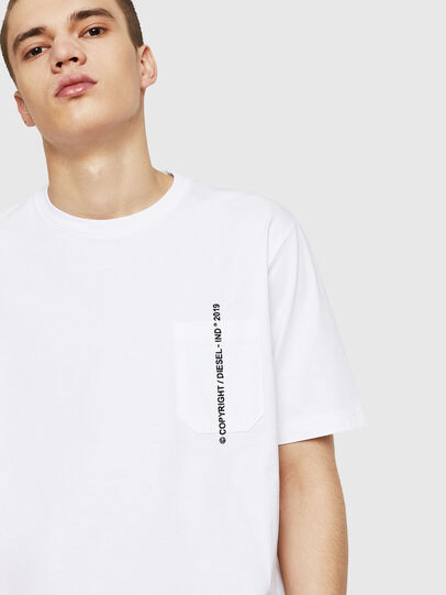 Diesel - T-JUST-POCKET-COPY, White - T-Shirts - Image 4