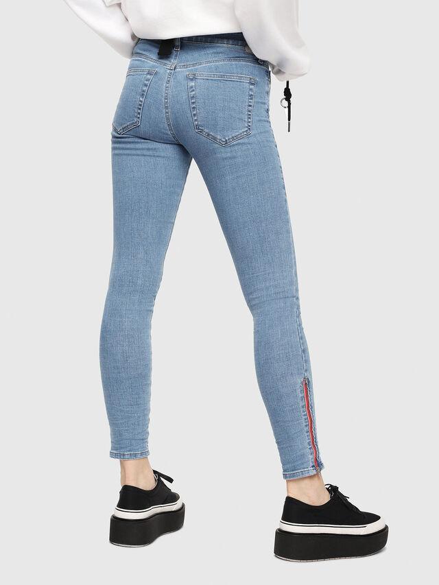 Diesel - Slandy Zip 069FN, Light Blue - Jeans - Image 2