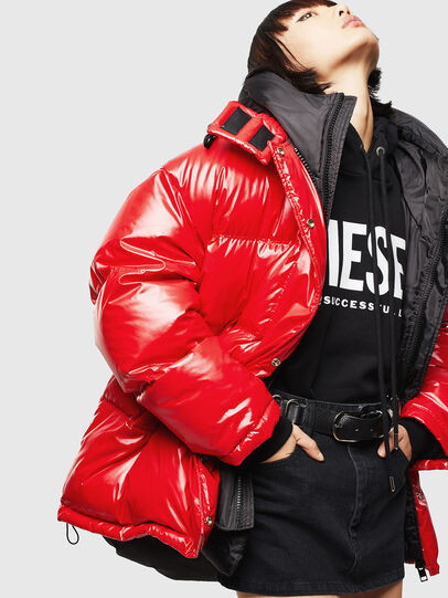 Diesel - CL-W-ALLA-LITM, Red - Winter Jackets - Image 5
