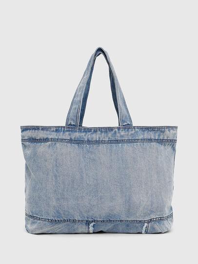 Diesel - D-THISBAG SHOPPER L, Light Blue - Shopping and Shoulder Bags - Image 2