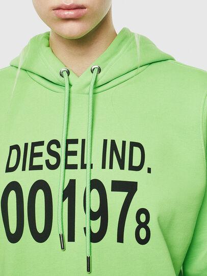 Diesel - F-ANG-HOOD-J1, Green Fluo - Sweaters - Image 3