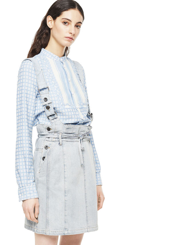 Diesel - ANNETTE, Light Blue - Skirts - Image 3