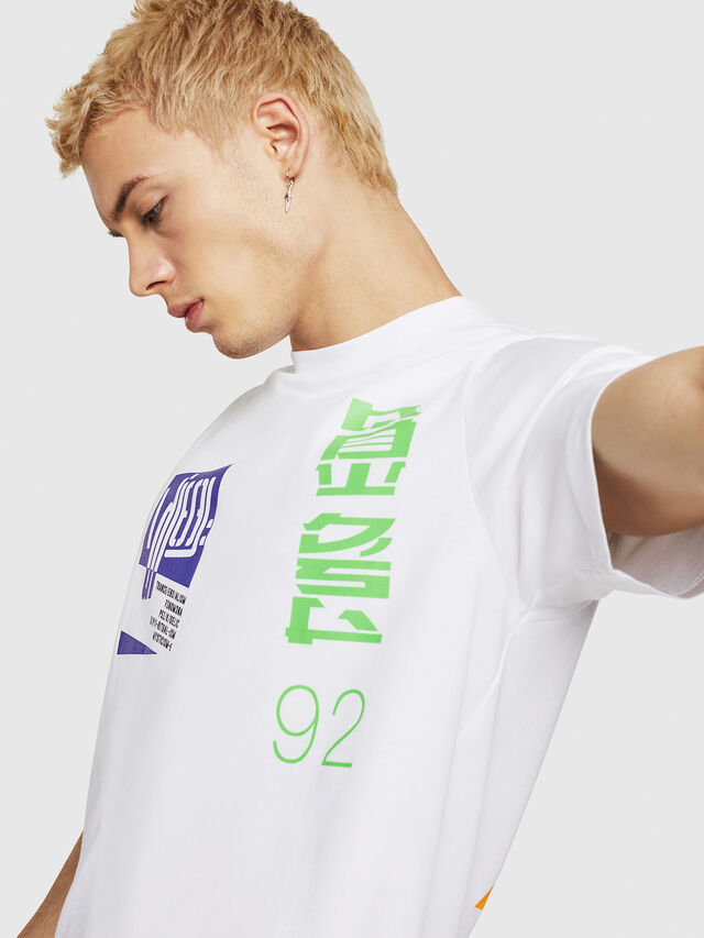 Diesel - T-JUST-Y20, White - T-Shirts - Image 3