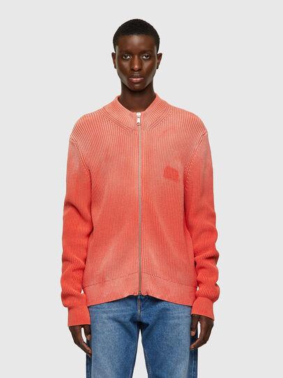 Diesel - K-KENTUCKY ZIP, Pink - Knitwear - Image 1