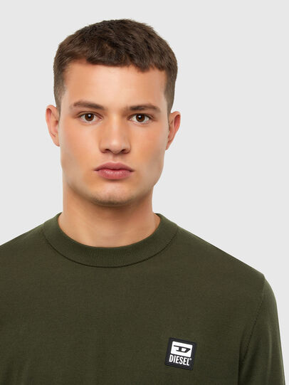 Diesel - K-FREEX-B, Military Green - Knitwear - Image 3