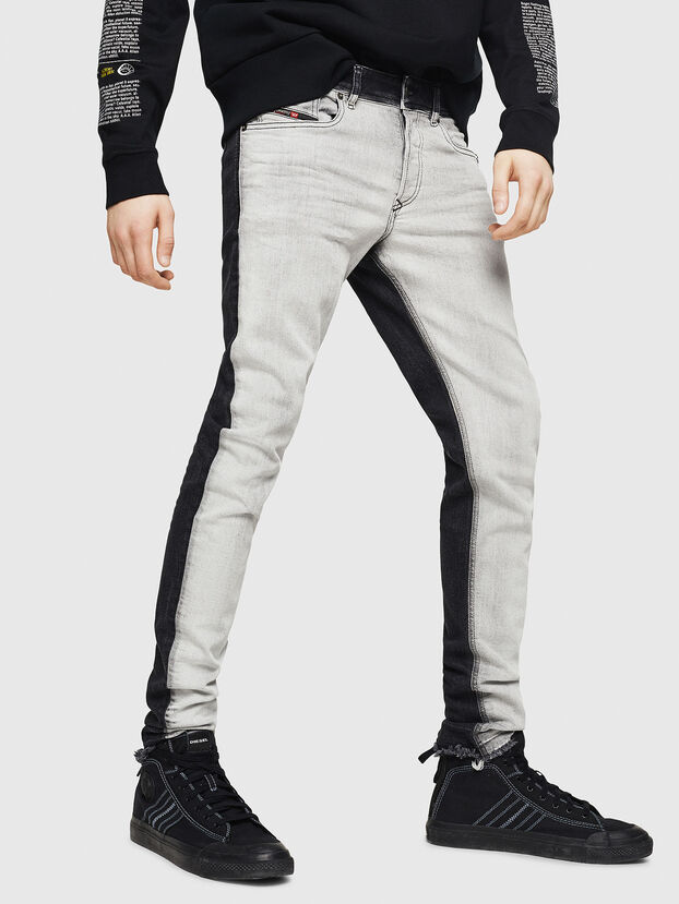 Sleenker 082AX, Black/Dark grey - Jeans