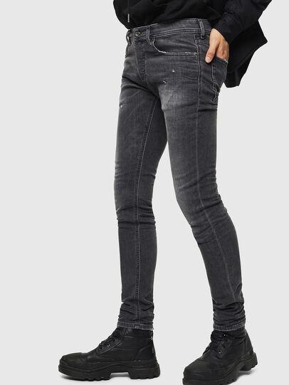 Diesel - Sleenker 069JR, Black/Dark grey - Jeans - Image 4