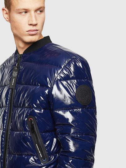 Diesel - W-ON, Blue - Winter Jackets - Image 4