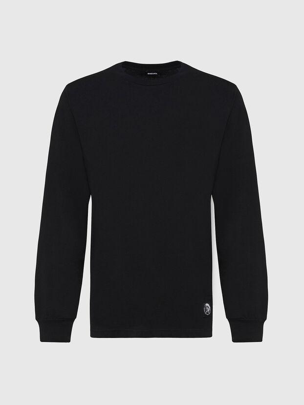 T-JUST-LS-MOHI, Black - T-Shirts