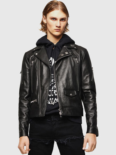 Diesel - L-PERF, Black - Leather jackets - Image 1
