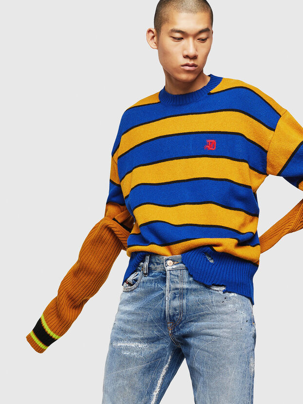 K-LOVERY, Blue/Yellow - Knitwear