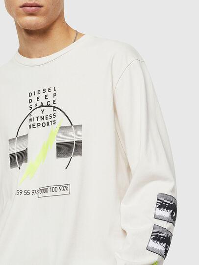 Diesel - T-JUST-LS-J3, White - T-Shirts - Image 3
