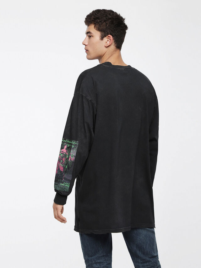Diesel - T-LUCAS-LS-XF, Black - T-Shirts - Image 2