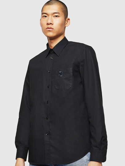 Diesel - S-MOI-R-BW, Black - Shirts - Image 1