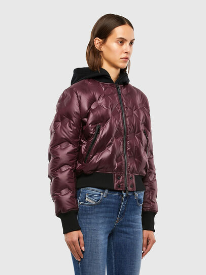 Diesel - W-AVALES, Plum - Winter Jackets - Image 3
