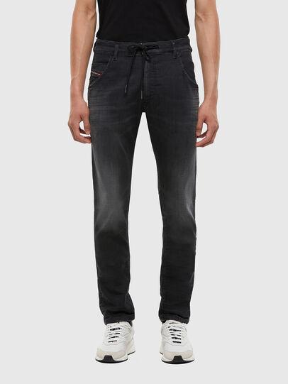 Diesel - Krooley JoggJeans 009KD, Black/Dark grey - Jeans - Image 1