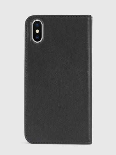 Diesel - BLACK DENIM/STUD/ZIPPER IPHONE X FOLIO, Black - Flip covers - Image 3