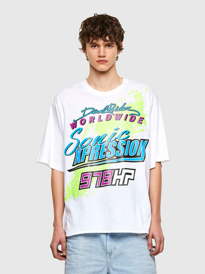 Diesel - T-DELPHONE, White - T-Shirts - Image 1