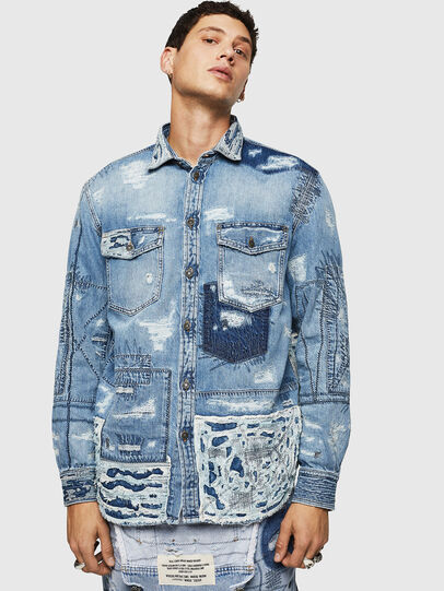 Diesel - D-HISAKY-SY, Blue Jeans - Denim Shirts - Image 1