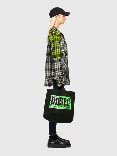 Diesel - LYVENZA, Black/Green - Shopping and Shoulder Bags - Image 7
