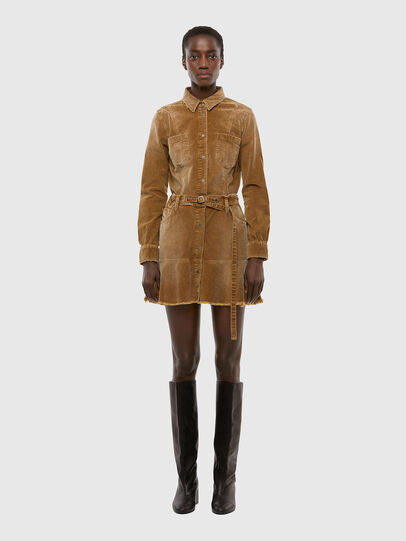 Diesel - D-SHAY-A, Light Brown - Dresses - Image 1