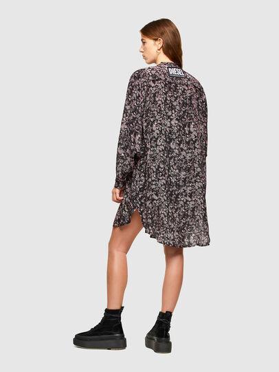 Diesel - D-SUPER-H-LONG, Black/Violet - Dresses - Image 2
