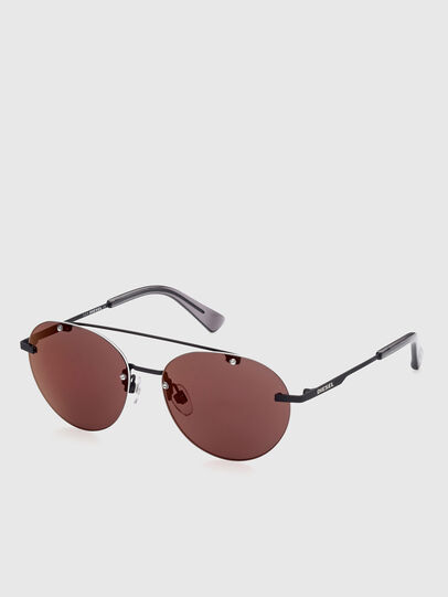 Diesel - DL0351, Black/Red - Sunglasses - Image 2